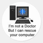 Computer Doctor Classic Round Sticker