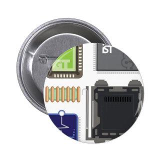 Computer Elements Button