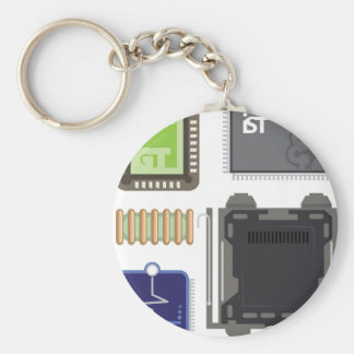 Computer Elements Keychain