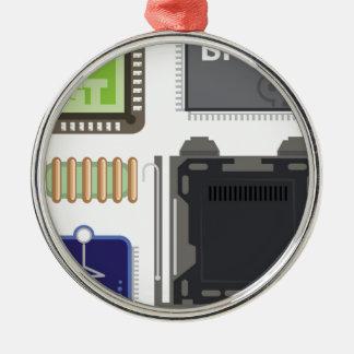 Computer Elements Metal Ornament