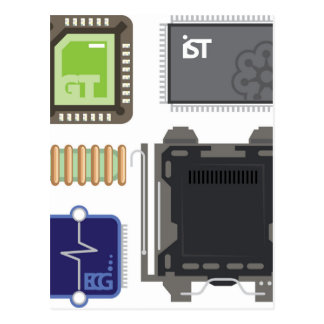 Computer Elements Postcard