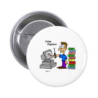 Computer Engineer Cartoon Buttons