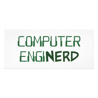 Computer Engineer Enginerd Rack Card