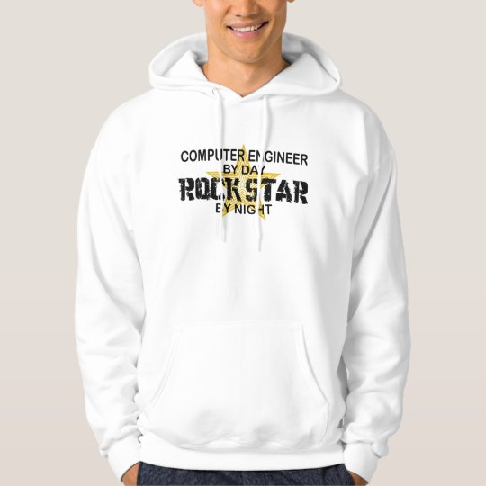 Computer Engineer Rock Star Hoodie