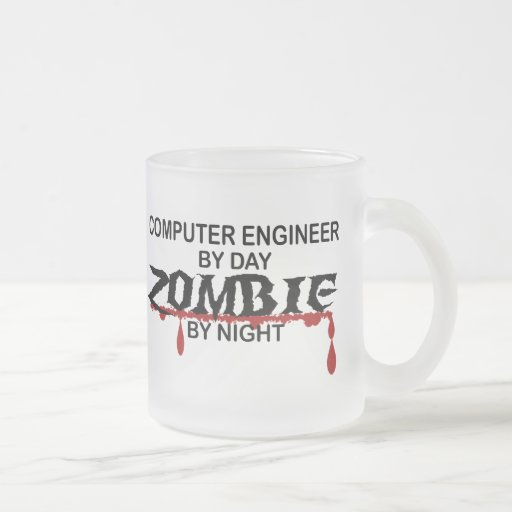 Computer Engineer Zombie 10 Oz Frosted Glass Coffee Mug