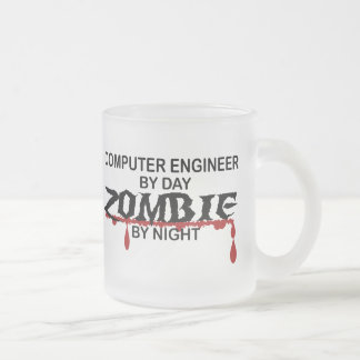 Computer Engineer Zombie Frosted Glass Coffee Mug