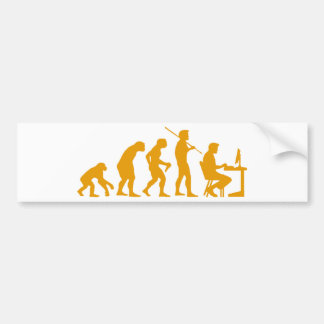 Computer Evolution Bumper Sticker