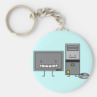 Computer Family IT Screen Mouse PC Tower Keychain