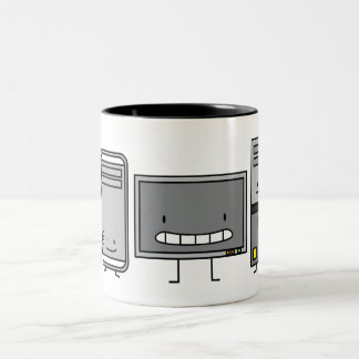 Computer Family IT Screen Mouse PC Tower Two-Tone Coffee Mug