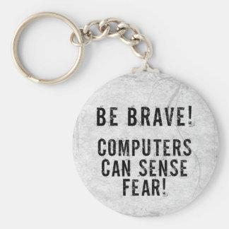 Computer Fear Basic Round Button Keychain