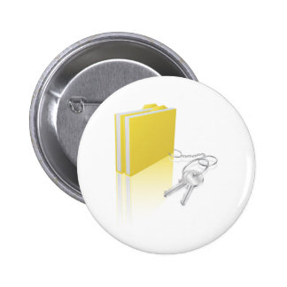 Computer file keys document security concept pinback buttons