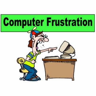 Computer Frustration Standing Photo Sculpture