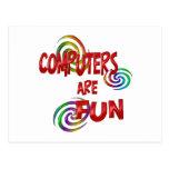 Computer Fun Post Card