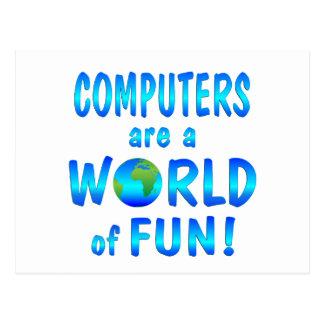 Computer Fun Postcard