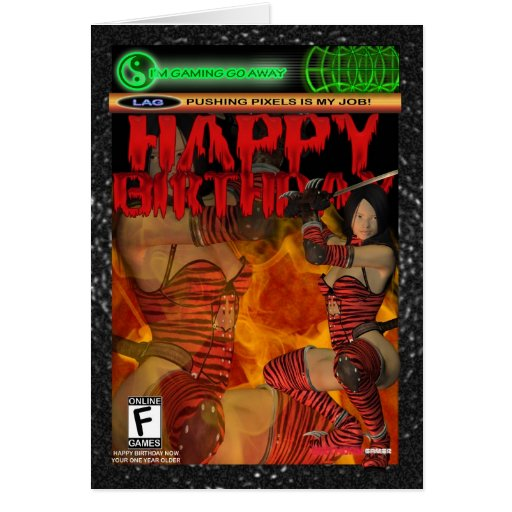 Computer Game Fan Birthday Card , Console, PC