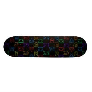 Computer game skateboard deck