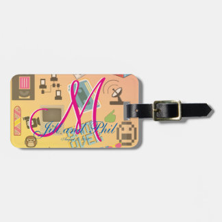 Computer Game Theme Wedding Luggage Tag