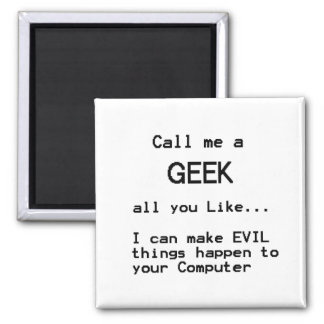 Computer Geek 2 Inch Square Magnet