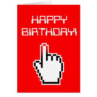 Computer Geek Birthday Card