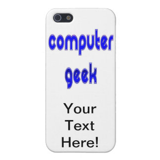Computer Geek Blue iPhone SE/5/5s Cover