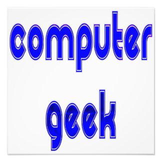 Computer Geek Blue Art Photo