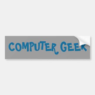 Computer Geek Car Bumper Sticker