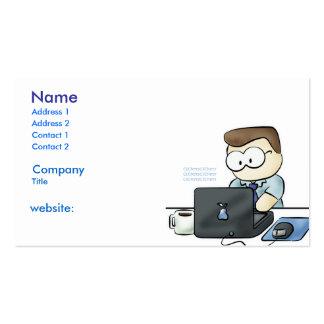 computer geek business card