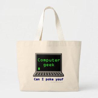 Computer geek. Can I poke you? Canvas Bag