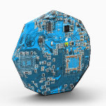 """Computer Geek Circuit Board - blue Acrylic Award<br><div class=""""desc"""">This one&#39;s for the Geeks in all of us.  Computer Geek Circuit Board - blue</div>"""