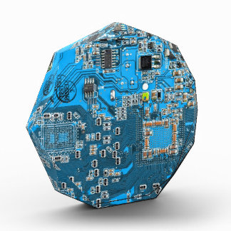 Computer Geek Circuit Board - blue Acrylic Award