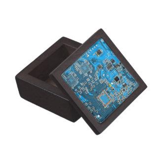 Computer Geek Circuit Board - blue Gift Box