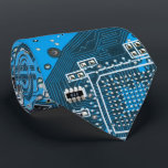 """Computer Geek Circuit Board - blue Neck Tie<br><div class=""""desc"""">This one&#39;s for the Geeks in all of us.  Computer Geek Circuit Board - blue</div>"""