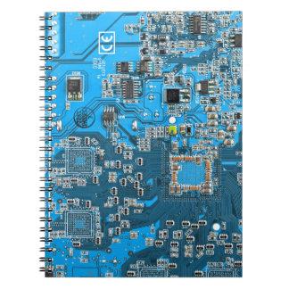 Computer Geek Circuit Board - blue Notebook