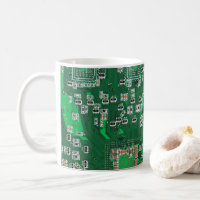 Computer Geek Circuit Board Coffee Mug