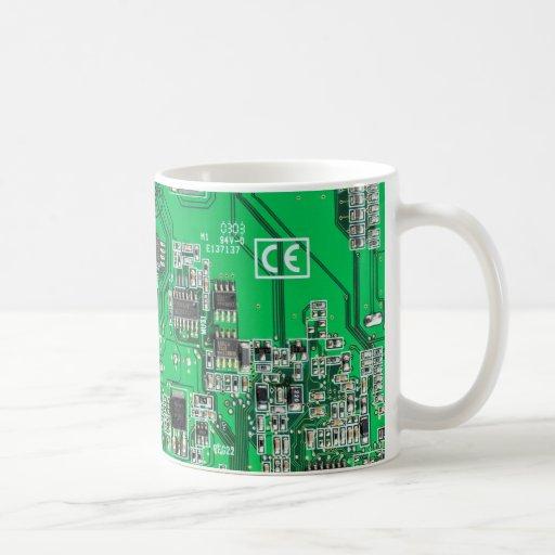 Computer Geek Circuit Board Coffee Mug