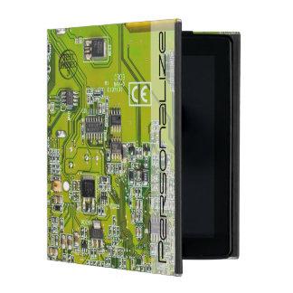 Computer Geek Circuit Board - gold iPad Case