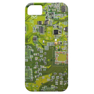 Computer Geek Circuit Board - gold iPhone SE/5/5s Case