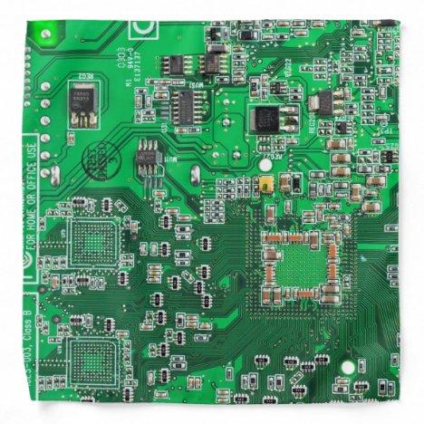 Computer Geek Circuit Board - Green Bandana