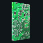 """Computer Geek Circuit Board - green Canvas Print<br><div class=""""desc"""">This one&#39;s for the Geeks in all of us.  Computer Geek Circuit Board - green</div>"""