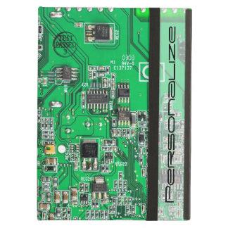 Computer Geek Circuit Board - green iPad Air Cover