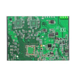 Computer Geek Circuit Board - green iPad Mini Cover