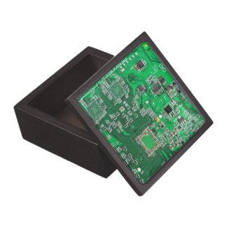 Computer Geek Circuit Board - green Jewelry Box