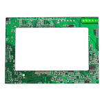 Computer Geek Circuit Board - green Magnetic Photo Frames