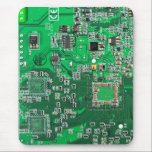 """Computer Geek Circuit Board - green Mouse Pad<br><div class=""""desc"""">This one&#39;s for the Geeks in all of us.  Computer Geek Circuit Board - green</div>"""