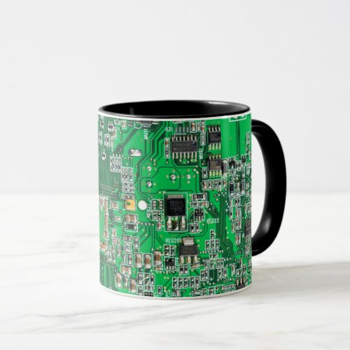 Computer Geek Circuit Board _ Green Mug