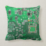 "Computer Geek Circuit Board - green Throw Pillow<br><div class=""desc"">This one&#39;s for the Geeks in all of us.  Computer Geek Circuit Board - green</div>"
