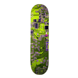 Computer Geek Circuit Board - neon yellow