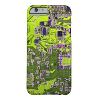 Computer Geek Circuit Board - neon yellow Barely There iPhone 6 Case