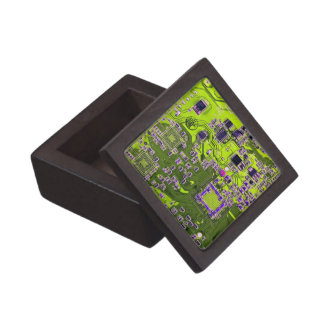 Computer Geek Circuit Board - neon yellow Gift Box