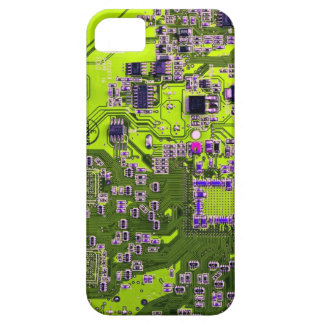 Computer Geek Circuit Board - neon yellow iPhone SE/5/5s Case